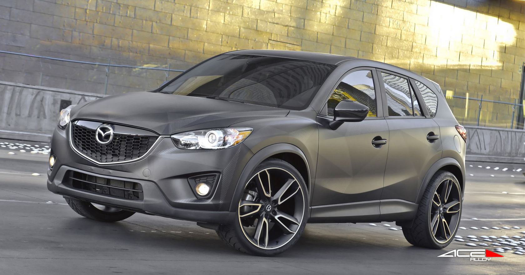 Mazda Cx 5 Urban W 22 22x10 0 Front Rear Matte Black With Machined Face Ace