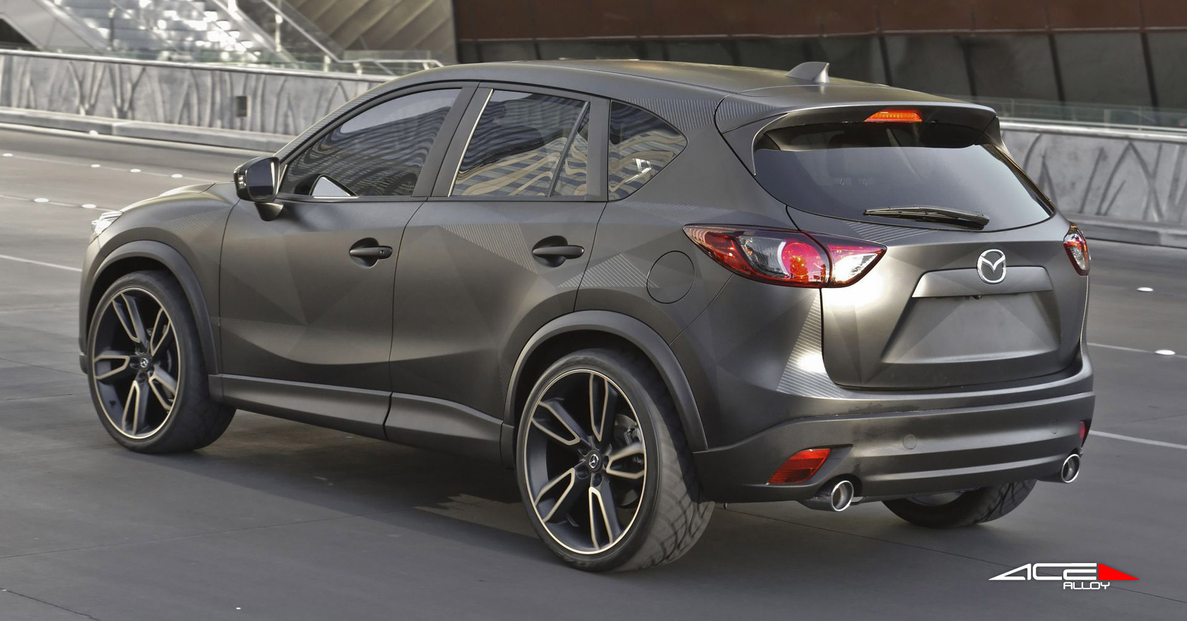 mazda cx 5 urban w 22 22x10 0 front rear matte black with machined face ace. Black Bedroom Furniture Sets. Home Design Ideas